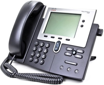 Cisco CP 7942G Corded Landline Phone (Black, Grey)