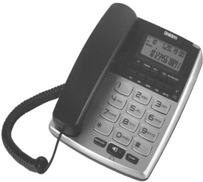 Uniden AS7402 Corded Landline Phone (Silver, Grey)