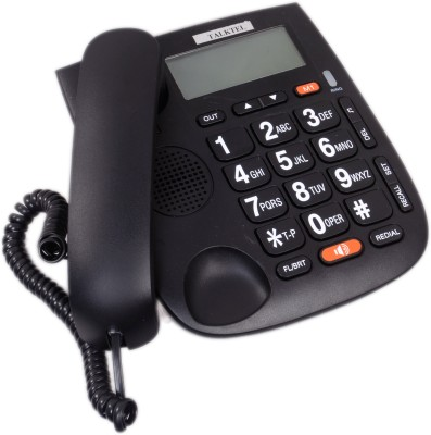 Talktel f-44 BK Corded Landline Phone (black)