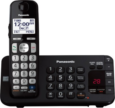 Panasonic PA-KX-TGE-240B Cordless Landline Phone (Black)