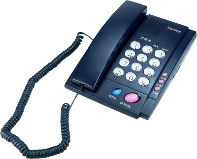 Sonics HT-9898 N BLUE Corded Landline Phone (N BLUE)