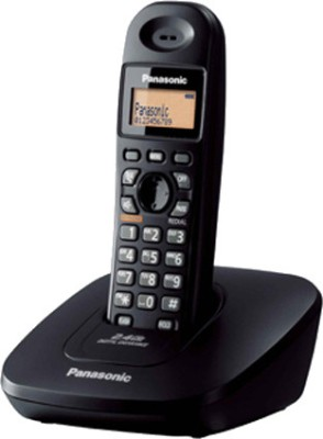 Panasonic KX-TG 3612 Cordless Landline Phone (Black)