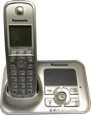 Panasonic KXTG-3721SX Cordless Digital Landline Phone (Silver)