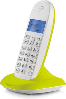 Motorola C1001LBI Cordless Landline Phone (LIME LEMON)