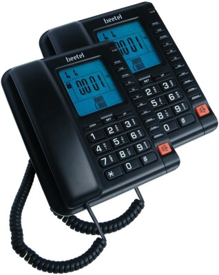 Beetel M78 Corded Landline Phone (Black)