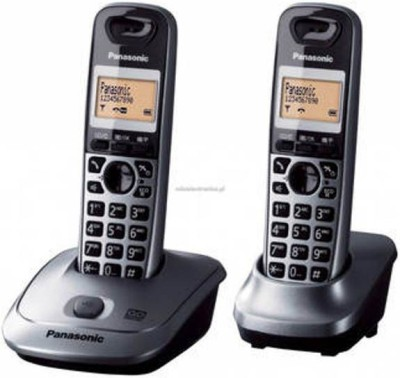Panasonic KX-TG3552 Cordless Landline Phone (GREY & BLACK)