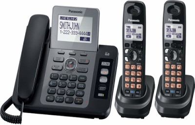 Panasonic PA-KX-TG9472 Corded & Cordless Landline Phone (Black)