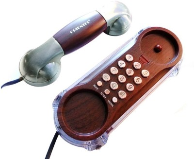 Siddh Present Orientel Antique Style Kx-T777 Corded Landline Phone (Silver)