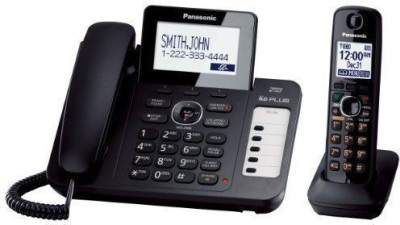PANASONIC kx-tg6671 Corded & Cordless Landline Phone (BLACK)