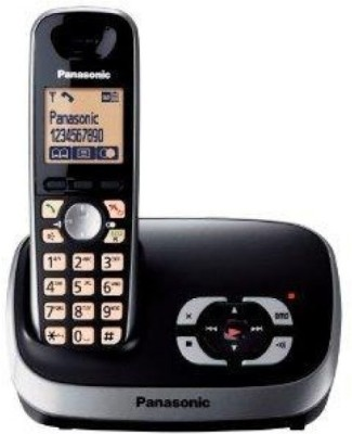 Panasonic KX-TG 6521EB Cordless Landline Phone (Black)