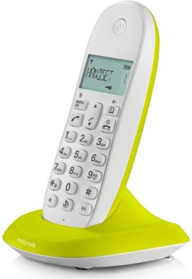 Motorola C1001LI LIME LEMON Cordless Landline Phone (LIME LEMON)