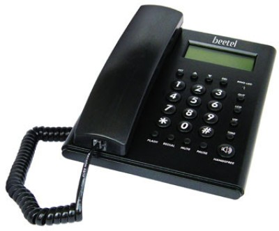 Beetel M52 Corded Landline Phone (Black)
