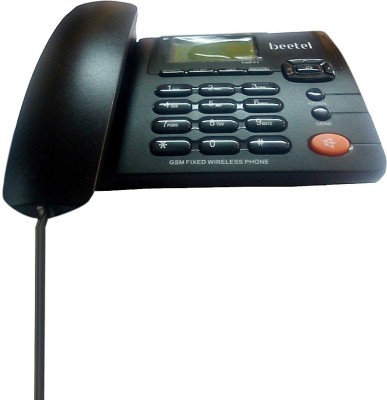Beetel F1 Corded & Cordless Landline Phone (Black)