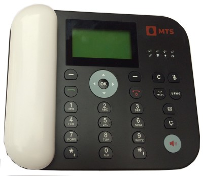 MTS UNLOCK CDMA WALKY WITH WI-FI & FM FUNCTION Cordless Landline Phone (BLACK:WHITE)