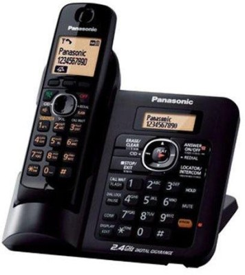 Panasonic Kx-Tg3811sxm Cordless Landline Phone (Black)