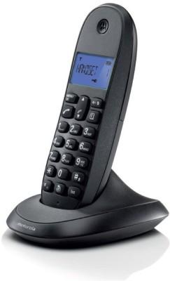 MOTOROLA C1001LBI Cordless Landline Phone (BLACK)