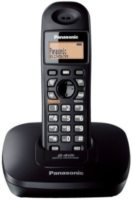 Panasonic KX-TG3611SXB Cordless Landline Phone (Black)