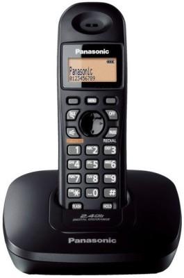 Panasonic KX-TG3611SXB Cordless Landline Phone (Black)