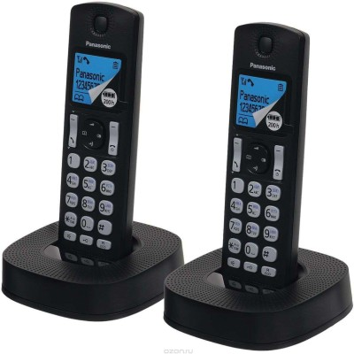 Panasonic KX-TGC312 Cordless Landline Phone (Black)