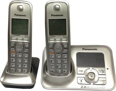 Panasonic KXTG-3722 Cordless Landline Phone (Silver)