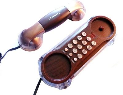 Siddh Present Orientel Antique Style Kx-T777 Corded Landline Phone (Brown)