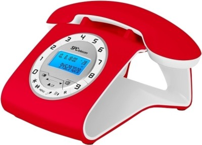 SPCtelecom 3606R Retro Elegance Corded Landline Phone (Red)
