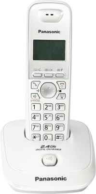 Panasonic New Panasonic 2.4 GHz Digital cordless Phone KX-TG3551SXW- WHITE Cordless Landline Phone (White)
