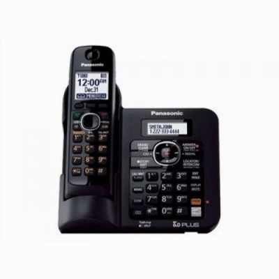 Panasonic PA-KX-TG6641 Cordless Landline Phone (Black)