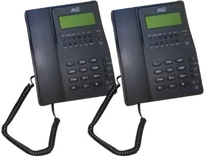 Ptel PT-999 Corded Landline Phone (Black, White)