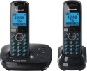 Panasonic KX-TG 5522 Cordless Landline Phone - Black