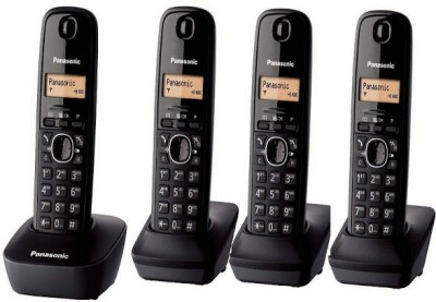 Panasonic PA-KXTG1614 Cordless Landline Phone (Black)