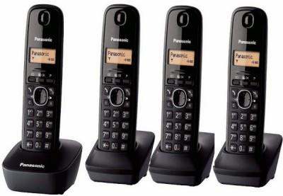 Panasonic PA-KXTG1614 Cordless Landline Phone (Black)