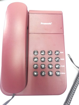 Pramoda PT 22 Corded Landline Phone (Multicolor)