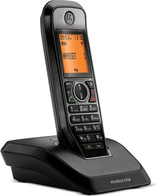 Motorola S2001I Cordless Landline Phone (Black)