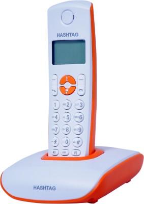 Hashtag 6333O Cordless Landline Phone (Orange, White)
