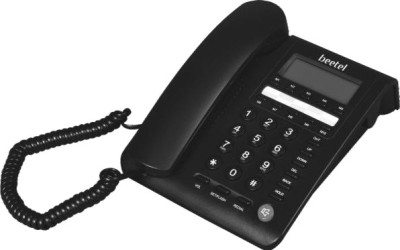 Beetel M59 Corded Landline Phone (Black)