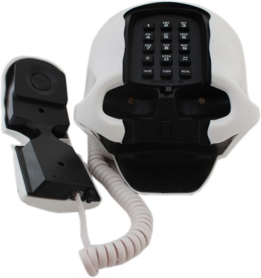 Tootpado Skull Shape 1m185 - Telephone Corded Landline Phone (White)