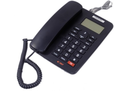Talktel F-55 Corded Landline Phone (Black)