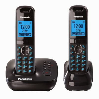 Panasonic PA-KXTG5522 Cordless Landline Phone (Black)