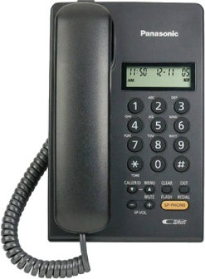 Panasonic KX-TSC62SXB Corded Landline Phone (Black)