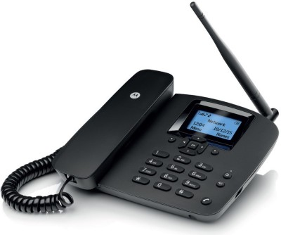 MOTOROLA MOTOROLA FIXED WIRELESS PHONE FW200L Corded Landline Phone (BLACK)