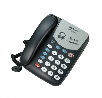 Sonics HT-882 BLACK Corded Landline Phone Black