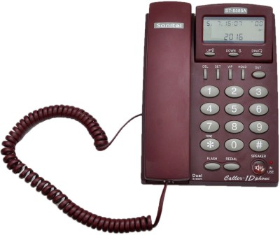 SONITEL ST-8585A Corded Landline Phone (Red)
