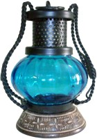 The Woods Hut Blue Iron Lantern (17.78 Cm X 12.7 Cm, Pack Of 1)