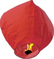 Skycandle Paper Sky Lantern (Red, Pack Of 20)