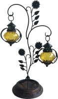 The Woods Hut Yellow Iron Lantern (55.88 Cm X 20.32 Cm, Pack Of 1)
