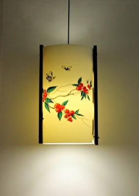 9 Gifts Cherry White Plastic Lantern
