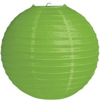 Skycandle 10″ Green Even Ribbing Round Paper Lantern (Green, Pack Of 1)