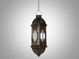 InspirationWorld Brass Antique Hanging Lamp Brown Iron Lantern
