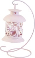The Yellow Door Pink Iron Lantern (9 Cm X 5 Cm, Pack Of 1)